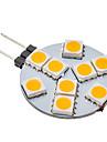 G4 9 SMD 5050 70-100 LM Тёплый белый Круглые LED лампы AC 12 V
