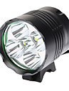 DARK KNIGHT Front Bike Light K5N 3-Mode 5xCree XM-L T6 LED Bicycle Flashlight (6000LM, 4x18650, Black)