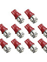2825 T10 5-SMD Red LED Car Lights Bulb (10 PCS)