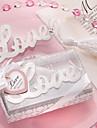 Ord om kærlighed sølvblanke Bogmærke med Elegant White-Silk Tassel