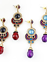 Earring Drop Earrings Jewelry Women Daily Alloy / Rhinestone Red / Purple KAYSHINE