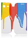 Pour Samsung Galaxy Coque Clapet Motif Coque Coque Intégrale Coque Dégradé de Couleur Cuir PU pour Samsung S3