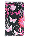 Beautiful Butterflies Pattern Full Body Case with Card Slot for HuaWei Y300 (Black)