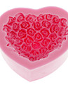 Rose Heart Shape silikonimuottia Baking Mould