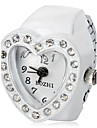 Women\'s Heart Shaped White Alloy Quartz Ring Watch Cool Watches Unique Watches