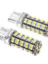 2 개의 PC T20 4W 68x3528SMD 330-360LM 6000K 차가운 백색 빛 LED 옥수수 전구 (12V)