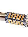 BA15S / 1156 5W 102x3528smd 306lm 3000-3500K luz branca quente lampada LED para o carro (DC 12V)