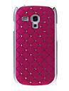 Diamante Padrão Capa Hard Case Voltar para Samsung Galaxy S3 Mini I8190