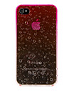 Romantic Rain Drops Pattern PC Hard Case for iPhone 4/4S (Assorted Colors)
