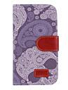 Sininen ja valkoinen posliini Drawing PU Leather Verho Tulosta Skin muovi kova takakansi Taskut Samsung Galaxy S4 I9500