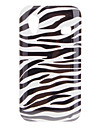 Sort Hvid Zebra TPU gummi Gel Skin Case Cover til Samsung Galaxy Ace S5830