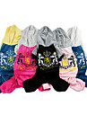 Lovely Velvet Casual Warm Four-legged Pants with Hoodies for Pets Dogs (Assorted Colors, Sizes)