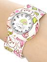 Children's Cartoon Bear Pattern Bendable Plastic Band Slap Watch Cool Watches Unique Watches Fashion Watch