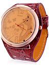 Women\'s Cat Pattern Pu Band Quartz Analog Wrist Watch (Assorted Colors)