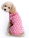 Cat / Dog Sweater / Clothes/Clothing Pink Winter Hearts Keep Warm