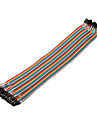 40pin 1P-1P Female to Female Dupont Linha colorida Dupont Wire (30cm)