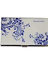 Персонализированные сине-бело цветочным узором гравировкой Визитницы