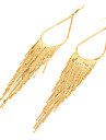 European Style Retro Tassel Alloy Drop Earrings(Assorted Color)