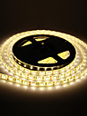 Impermeavel 60W 5M 60x5050SMD 3000-3600lm 2800-3200K luz branca quente LED Strip Light (DC12V)
