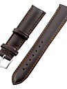 Unisex 20mm Leather Watch Band (Brown) Cool Watch Unique Watch