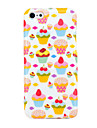Pretty Strawberry Cakes Pattern TPU Soft Back Case Cover for iphone 5C