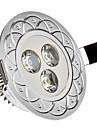 3W 3 Высокомощный LED 285 LM Холодный белый Встроенное освещение AC 85-265 V