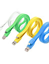 Colorful Flat USB Cable Noodles Data Sync Cord Charger Cables for HTC Samsung Motorola Nokia ZTE