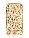 Металл череп шаблон покрытие чехол для iPhone 4/4S