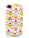 Pretty Strawberry Cakes Pattern TPU Soft Back Case Cover for iphone 4S/4