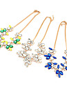 (1 Pc) Colorful Gem Rhinestone Flower-shaped Bohemian Necklace for Women