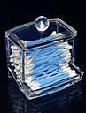 акриловые прозрачные ящик в форме ящика тампон коробка косметика для хранения косметических организатор