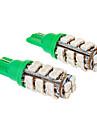 T10 1.2W 20x3528SMD Зеленый свет Светодиодные лампы для автомобилей (12V, 2шт)