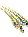 The court Vintage Rhinestone pierced flowers hairpin