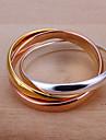 (1 pc) l'anneau de cuivre multicolore des femmes douces (taille 8 #)