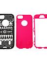 Grain tribal 3 en 1 Housse en silicone pour iPhone 5/5S en plastique