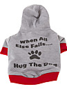 Dog Coats / Hoodies - XS / S / M / L - Winter - Blue / Gray Cotton