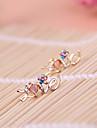 다이아몬드 문자는 멀티 컬러 다이아몬드 꽃 복숭아 심혼 귀걸이 E800 사랑