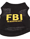 Dog Shirt / T-Shirt Black / Yellow Summer Police/Military / Letter & Number Holiday / Fashion