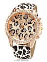 naisten kello muoti diamante kultainen dial leopardi bändi