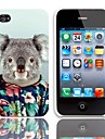 Lovely Koala Pattern Hard Case with 3-Pack Screen Protectors for iPhone 4/4S