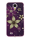 Purple Ground Flowers Pattern Plastic Protective Hard Back Case Cover for Samsung Galaxy S4 I9500