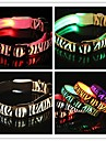 Adjustable Stylish Zebra Pattern Night Safety LED Flash Collar For Pets Dogs(Assorted Sizes, Assorted Colors)