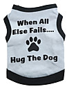 Dog Shirt / T-Shirt Gray Dog Clothes Summer Letter & Number