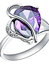 Fashion Women\'s Purple Platinum Plated Brass Statement Rings(1Pc)