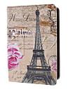 Eiffel and Pink Rose Pattern Case w/ Stand for iPad mini 3, iPad mini 2, iPad mini