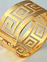 u7® 60 milimetros homens vintage ou 18k ouro real das mulheres banhado pulseiras g carta bangles pulseira cuff