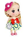 Kvinder Doll Shape nøglering Watch (Grøn)