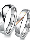 """Real Love"" Heart Stainless Steel Band Ring Valentine Couples Wedding Engagement Promise Rings Promis rings for couples"
