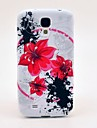 Red Amaryllis Pattern TPU Soft Case for Samsung Galaxy S4 I9500