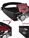 1.5X 8.5x 3X 10X LED Light Helm Kopflupe Brille Lupe Stil